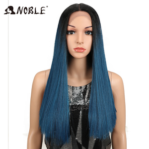 """Image 2 - Noble Hair 20""""Inch Synthetic Lace Front Wig For Black Women Heat Resistant Straigtht Hair African American Braided Wig For Women"""