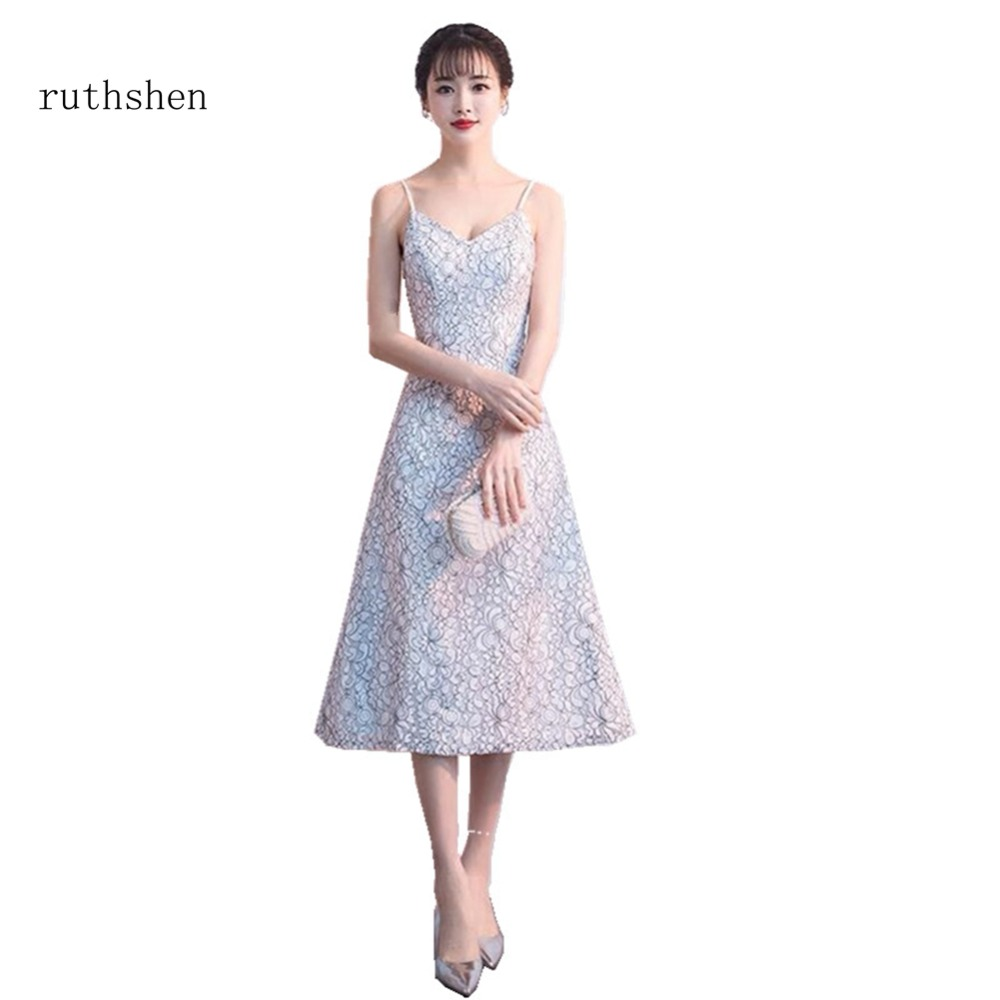 ruthshen 2018 New Cheap Long Sleeveless   Prom     Dresses   Lace Mermaid Party Gowns Evening Gown Real Photo Formal Vestido De Festa