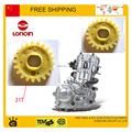 Water Buffalo water pump plastic gear 250cc LONCIN water cooled engine water pump impeller gear  21 teeth free shipping