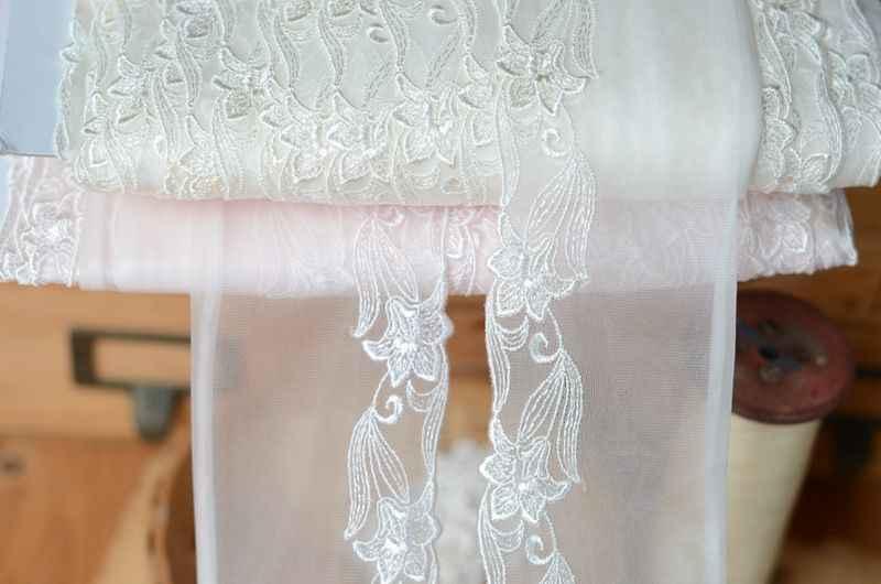 H0701 одежда EVA аксессуары японский рис белый светло-розовый сеточная пряжа с вышивкой на шнуровке с каблуком 7 см в ширину