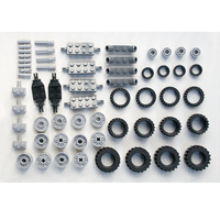 Wheel Rims Pack 2 DIY Enlighten Block Bricks Compatible With Lego Assembles Particles