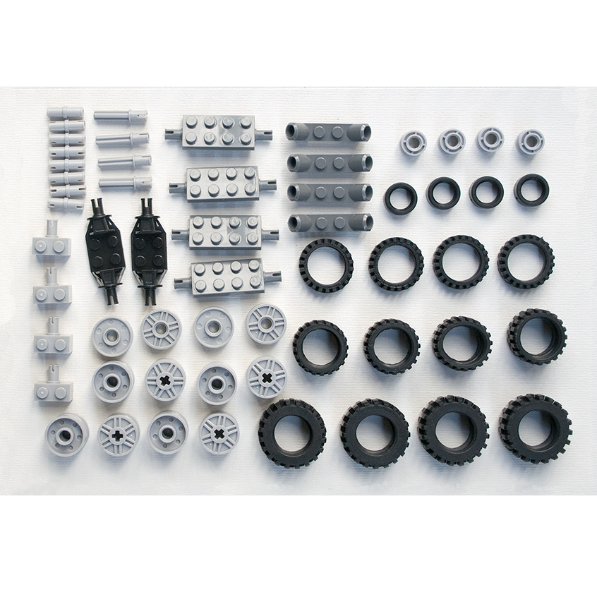 *Wheel&rims Pack 2* DIY Enlighten Block Bricks,Compatible With Lego Assembles Particles
