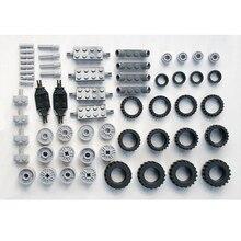 * Zestaw kół i felg 2 * DIY podświetlane klocki typu cegły, kompatybilne z klockami Lego montuje cząstki