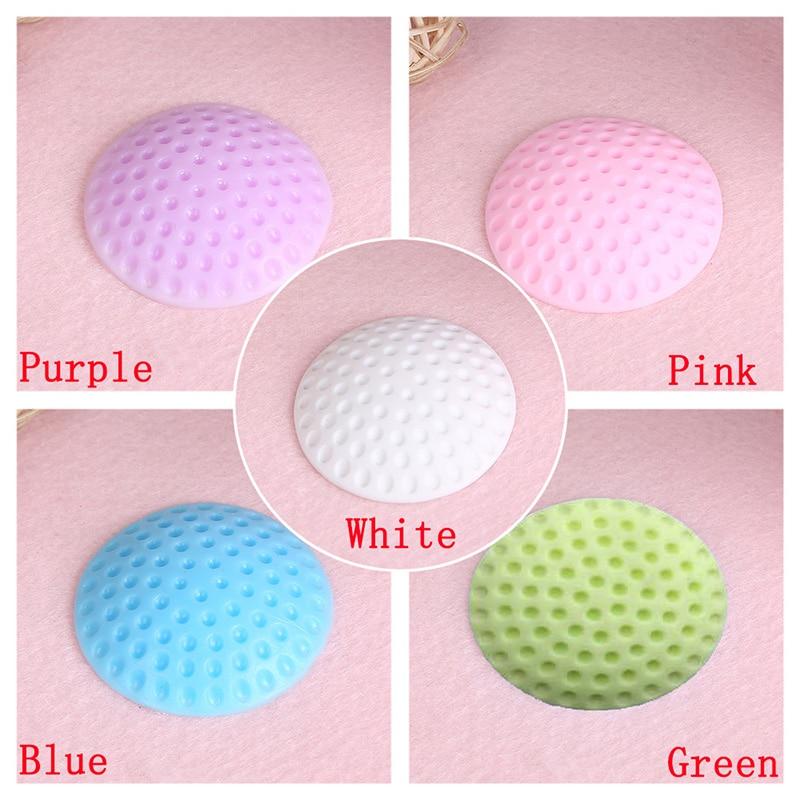 Almofada de borracha macia para proteger a parede autoadesiva porta rolha golfe modelagem porta fender adesivos (branco/azul/rosa/verde/roxo)