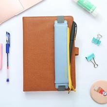 Pen-Bag Pencil-Case Notebook Elastic-Buckle School-Supplies Stationery Office Fashion