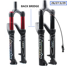 Horquilla de bicicleta HIMALO 27,5/29ER tenedor puente trasero aire MTB horquilla de bicicleta Suspensión de aceite y horquilla de Gas para Manitou machete Comp