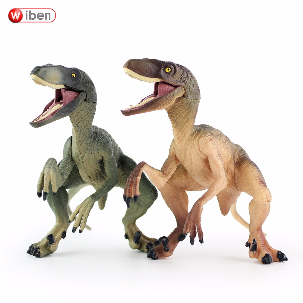 Wiben Jurassic Velociraptor Dinosaur Action & Toy Figures Animal Model Collection Learning & Educational Kids Birthday Boy Gift wiben jurassic carnotaurus action figure animal model collection vivid hand painted souvenir plastic toy dinosaur birthday gift