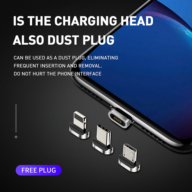 Baseus Magnetic Micro USB Cable For iPhone Samsung Type-C Charging Cable Magnet Charger Adapter USB Type C Mobile Phone Cables Mobile Phone Accessories Mobile Phone Cables Smartphones