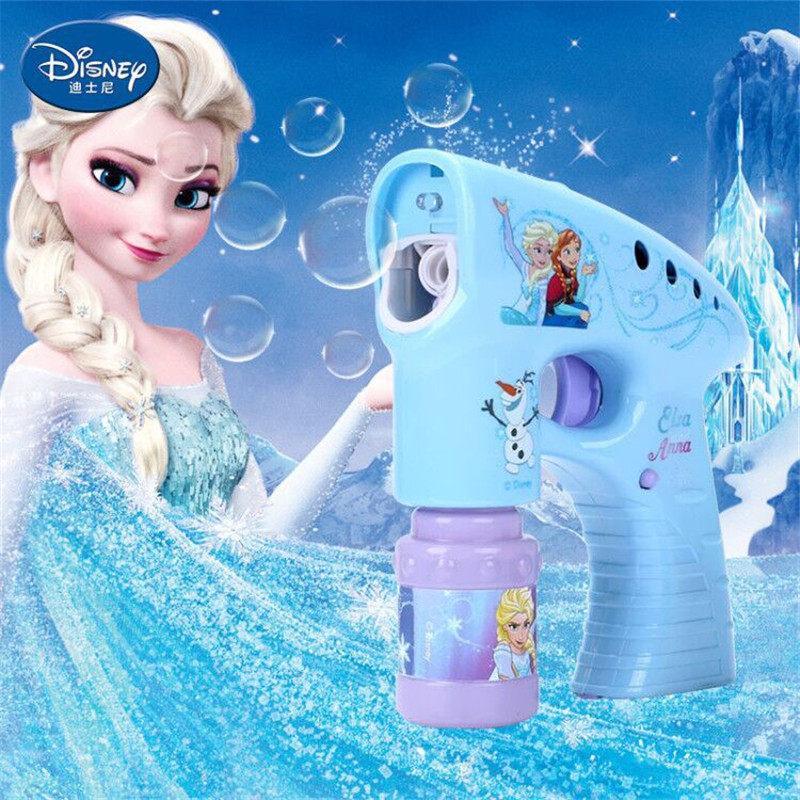 Frozen Elsa Anna Snow Girls Cartoon Bubbles  Machine Disney Cars Outdoor Fun Maker Party Summer Outdoor Toy