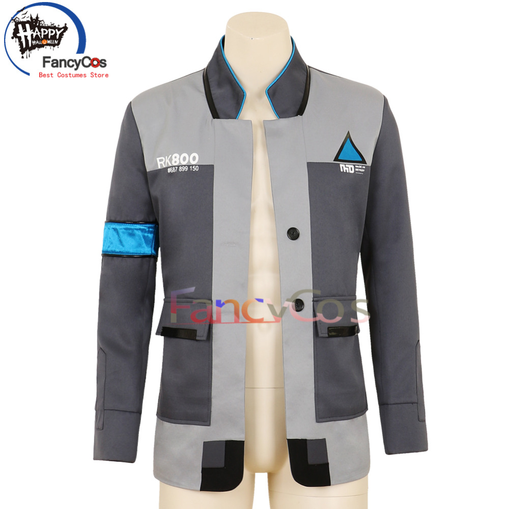 Halloween Detroit Become Human Connor Kara RK800 Uniform Costume Cosplay Movie & TV Anime Japanese High Quality Deluxe