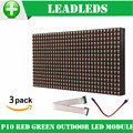 (3pieces/lot) p10 led display module 32*16 pixel DIP outdoor RED+GREEN dual color led panel led sign board led screen billboard