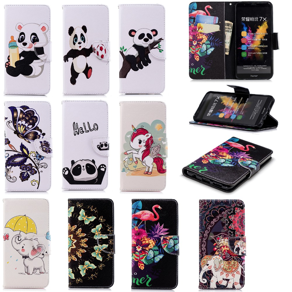 DAXING Wallet Case For Huawei honor 7x Cover Cases pu Leather Flip case for Huawei honor 7x 7 x Phone Kickstand Coque