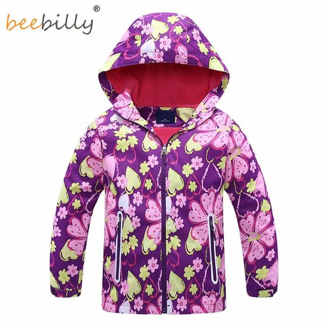 2018 New Spring Girls Jackets Sport Casual Hooded Waterproof Coat Girl Windbreaker For Children Full Sleeve Kids Outerwear