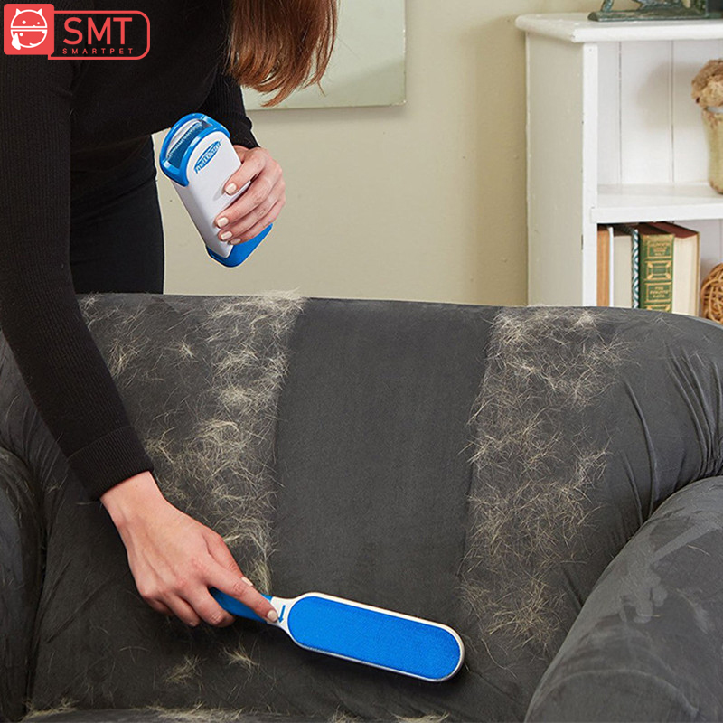 SMARTPET Reusable Pet Hair Brush Double Lint Remover Fur Scrub Clothes Bag Dust Brushes Magic Clean Brush for Dogs Cats herramientas para el aseo de la casa