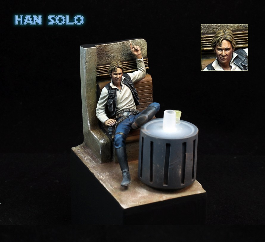 US $24 0 |Classic 1/24 Scale Star Wars Han Solo Bar Scene Miniatures 75MM  Unpainted Resin Model Kit Figures Free Shipping-in Model Building Kits from