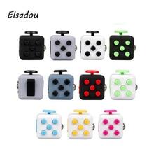 Elsadou Anti-stress Fidget Cube Christmas Gift Puzzle Magic Stress Cube Toy Antistress