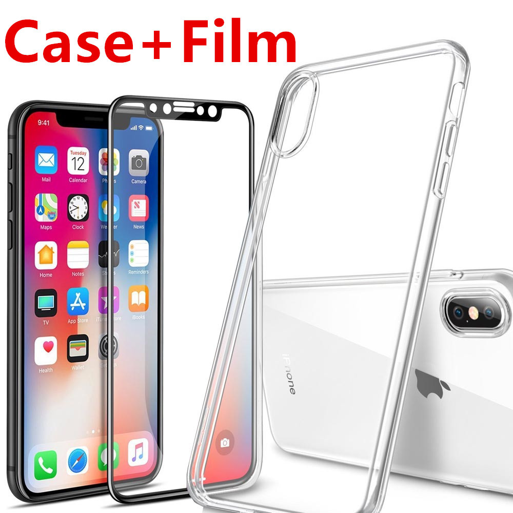För Apple iPhone X 10 Skärmskydd härdat glas Hel täckning 3D 4D - Reservdelar och tillbehör för mobiltelefoner - Foto 1