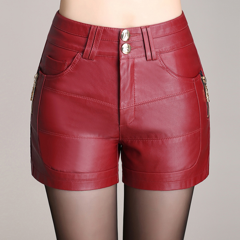 size 40 best service really cheap short cuir rouge
