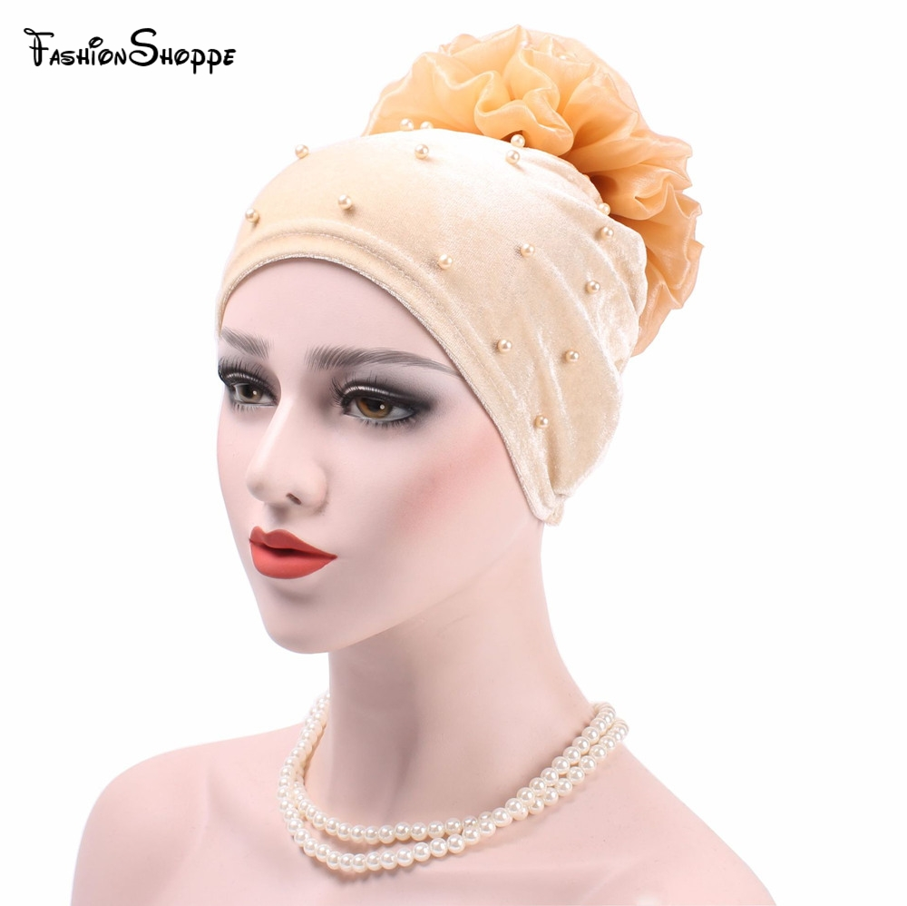 Quality Women Flower Hair Loss Cap Turban Hat Cancer Elastic Fashion Chemo Cotton Head Wrap Hat Muslim Hijab Inner Caps #xm345 Excellent In