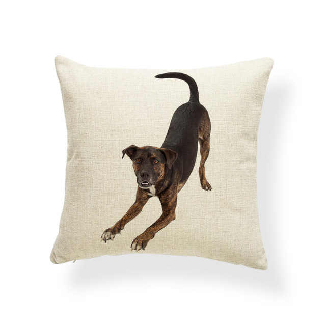 Chihuahua Hound Terrier ปลอกหมอน Dachshund ภาษาอังกฤษ Mastiff Dog ปลอกหมอน Nautical Houseware Decor โยนหมอน 45*45 ผ้าลินิน