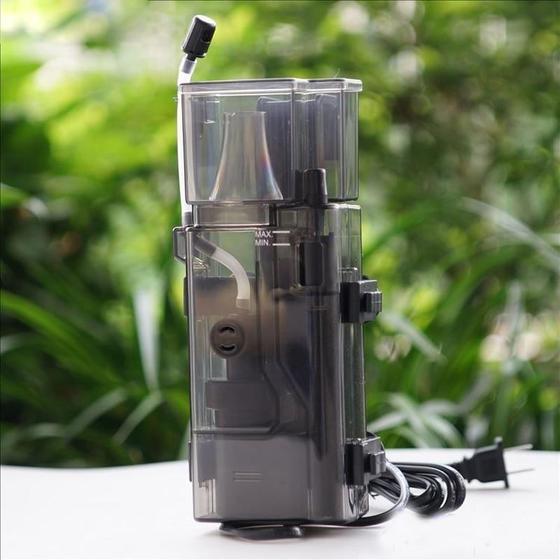 3.5w Acrylic Mini Aquarium Protein Skimmer Oil-free Pump Filter For Fish Tank Water Maintenance 300l/h