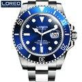 LOREO Германии часы мужчины люксовый бренд Diver 200 М автоматические механические часы армии Милан световой серый relogio masculino PO04