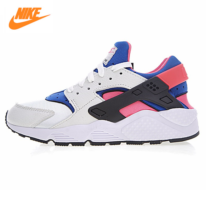 Nike Air Huarache Run QS Women's Original Running Shoes,Women's Breathable Shoes,High Quality lace-up Lifestyle Shoes AH8049-100 nike air huarache midnight navy white