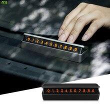 FLYJ adesivo Auto Numero di Telefono Numero di Targa Nascosto Accessori Car styling Parcheggio Auto Cassetto Carta Mobile Auto Interruttore Temporaneo