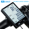 INBIKE 2 8 Large Screen Bicycle Computer Wireless Bike Computer Rainproof Speedometer Odometer Cycling Measurable Stopwatch