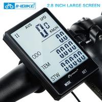 INBIKE 2 8 Large Screen Bicycle Computer Wireless Bike Computer Rainproof Speedometer Odometer Cycling Measurable Stopwatch