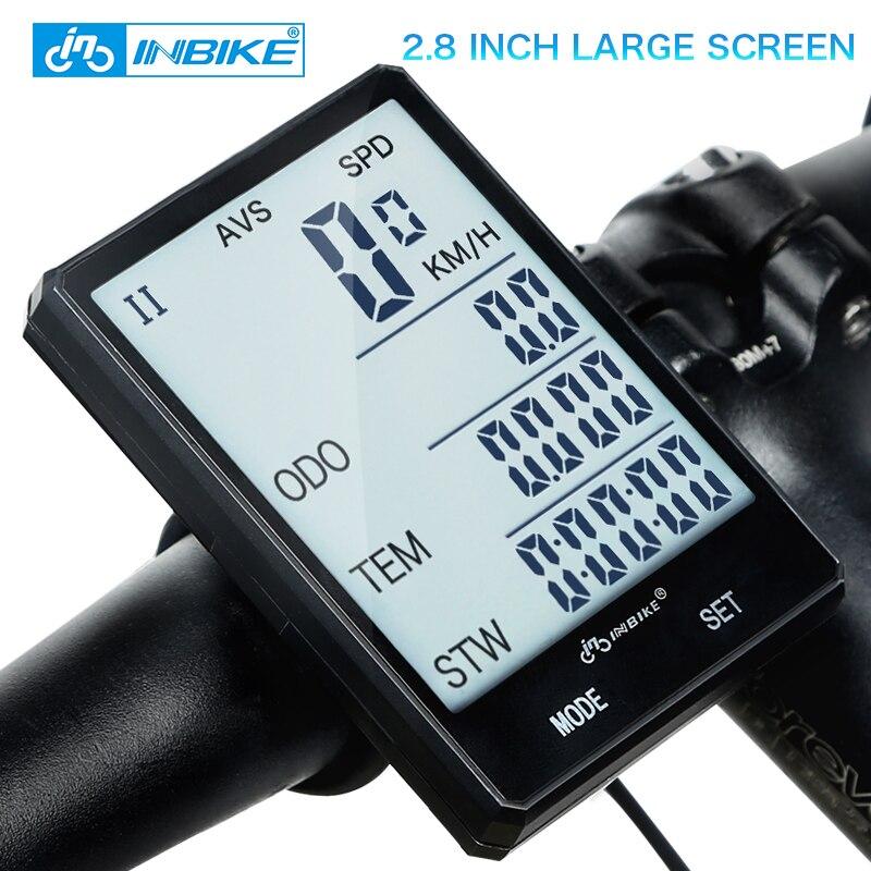 INBIKE 2.8 ''Grande Schermo Della Bicicletta Computer Wireless Bike Computer Impermeabile Tachimetro Contachilometri Bicicletta Misurabile Cronometro