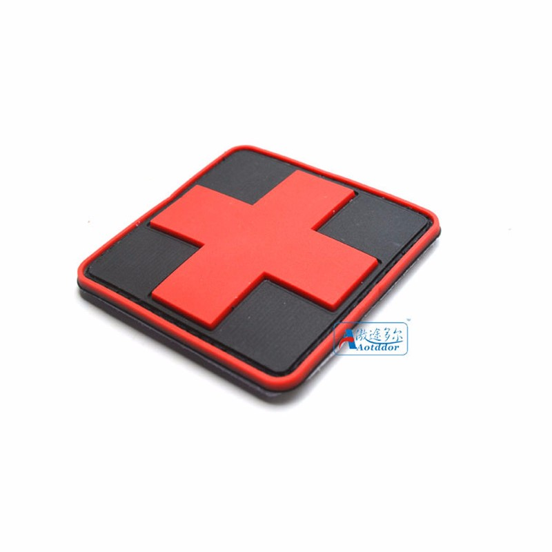 Apparel Sewing & Fabric 3d Pvc Rubber Red Cross Patch Medic Paramedic Tactical Army Morale Badge Military Army Armband Clothing Cap Bag Patch