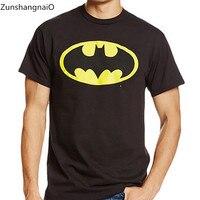 Zun Shang NiaO 2017 New Fashion Brand Men T Shirts Printed Batman Short Sleeve T Shirts