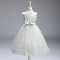 Top Sale Tank Sleeveless Ballgown Vestidos Primera Comunion Para Ninas 2017 Flower Girls Dresses For Wedding