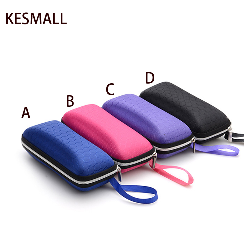 2017 Eyewear Cases cover sunglasses case for women glasses box with lanyard zipper eyeglass cases for men sunglasses accessories