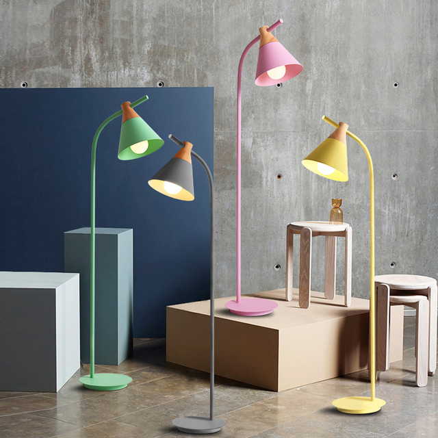 Staande Design Lamp.The Simplicity Of Color Modern Creativity Floor Lamps Standing
