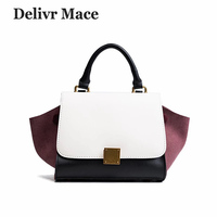 Designer Handbags High Quality 2018 Newest Scrub Leather Wings Bag Women Messenger Shoulder Bags Small Trapeze Female Handbag