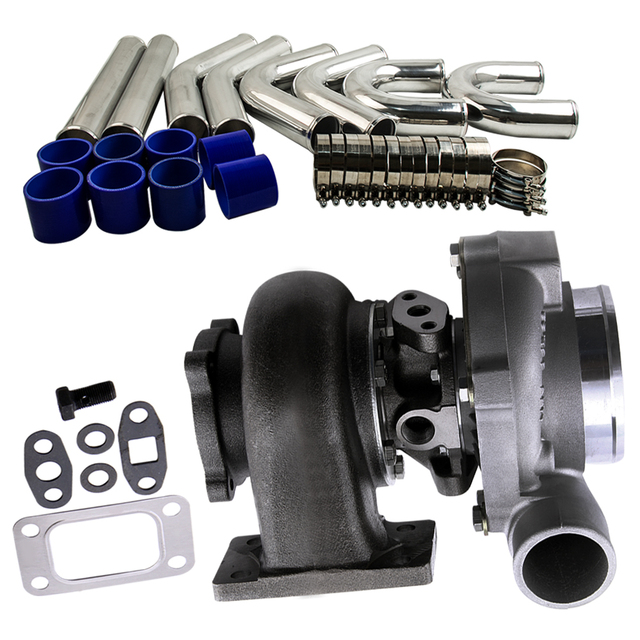 """GT30 GT3037 GT3076 Turbo A/R .60 .82 + 3.0"""" 76mm Intercooler Piping Pipe Kit"""