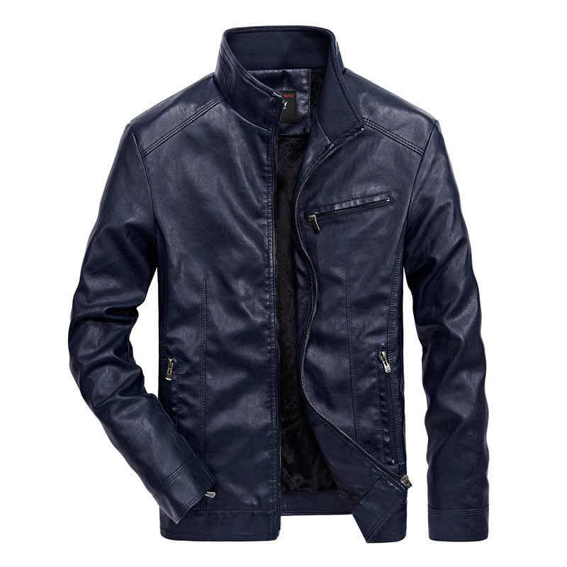 DIMUSI, зимняя мужская куртка из искусственной кожи, мотоциклетные пальто, мужские повседневные толстые теплые ветровки, куртки, брендовая одежда, 5XL, TA155
