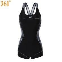 361 Women Athletic Swimsuit Black One-Piece Bathing Suit Chlorine Resistant Swimwear Girls Racing Female Swimming