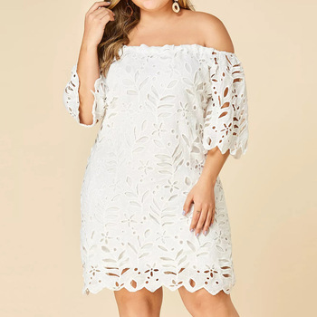 Solid Plus Size Maternity Dress 1