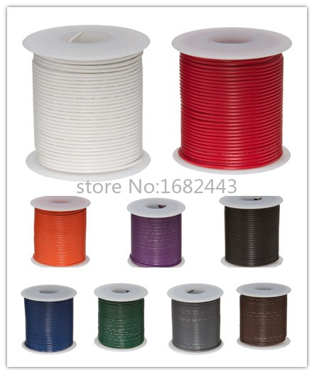 Do It Yourself Home Design: Free Shipping 30 Metres UL1007 22AWG PVC Insulated Wire