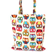 Fashion Women Canvas Handbag Casual Big Tote Bag Cartoon OWL Appliques Designer Handbags Sac a main Bolsos Mujer Bolsa Feminina