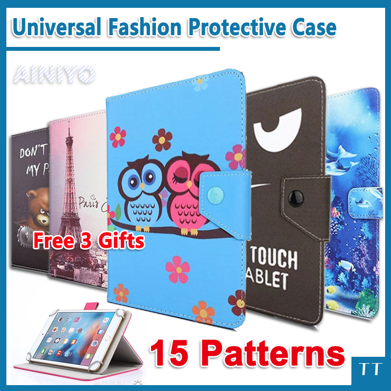 Newset Universal Cartoon fashion case For Digma Optima 7202 3G 7 Inch tablet pc Protective Cover + free 3 gifts digma optima 7010d 3g