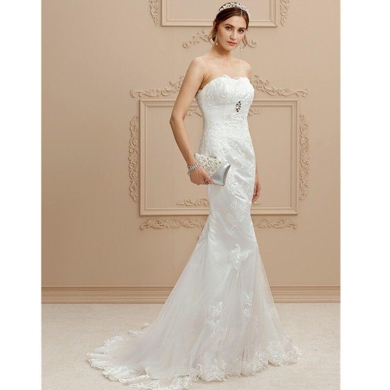Strapless Mermaid Wedding Gown: LAN TING BRIDE Mermaid / Trumpet Strapless Court Train