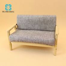 Miniature Doll House Sofa Sets Dollhouse Wooden Modern Manual Settee 1/12 Scale OB11(China)