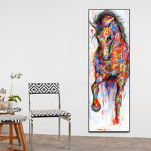 AAVV Wall Art Canvas Painting Running Horse Wall Picture Poster Prints Animal Painting Home Decor No Frame(China)