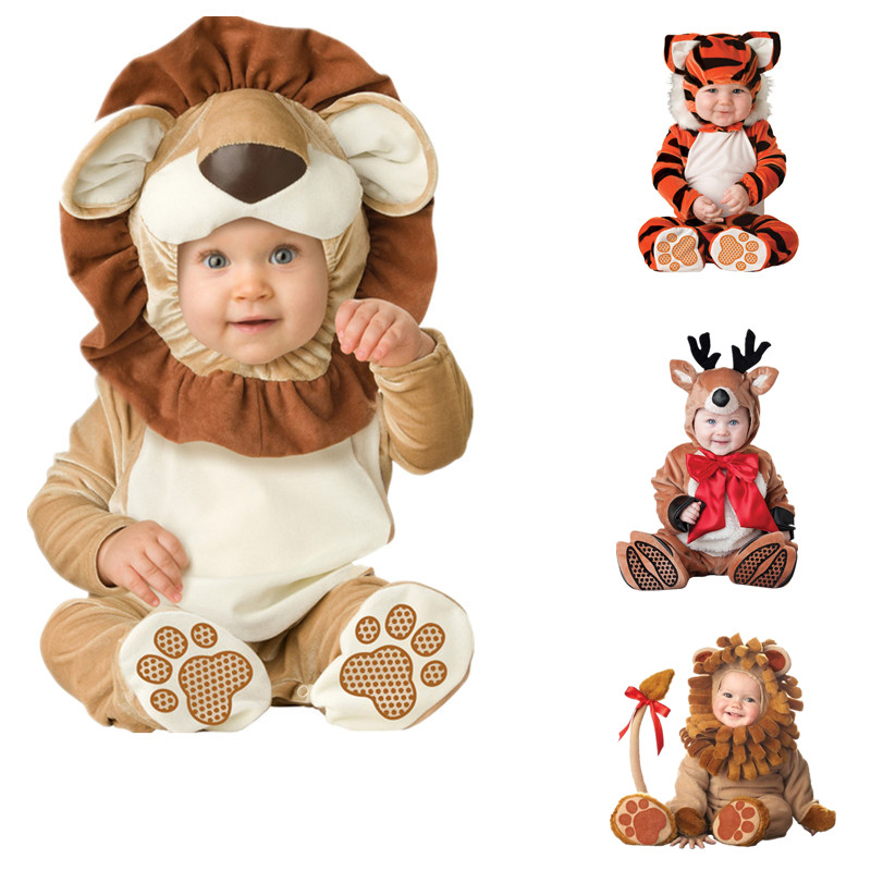 Baby Animal Rompers Newborn Bebe Clothes Pirate Dinosaur Santa Claus Carnival Christmas Halloween Cosplay Costume for Kids adult christmas santa claus costumes flocking rabbit fur fancy cosplay santa claus clothes good quality costume christmas suit