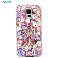 S5 Rhinestone Case Luxury Bling 3D Capa Funda Diamond Glitter Crystal Transparent Hard Plastic Back Cover