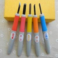 5pcs Set Rubber Stamp Carving Tools Diy Sculpture Necessary Tool